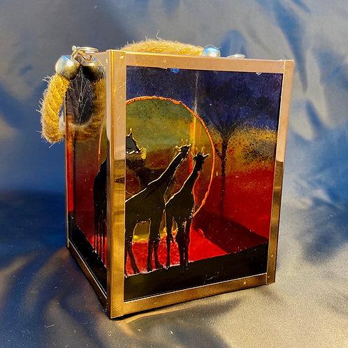Savannah Giraffe Square Lantern