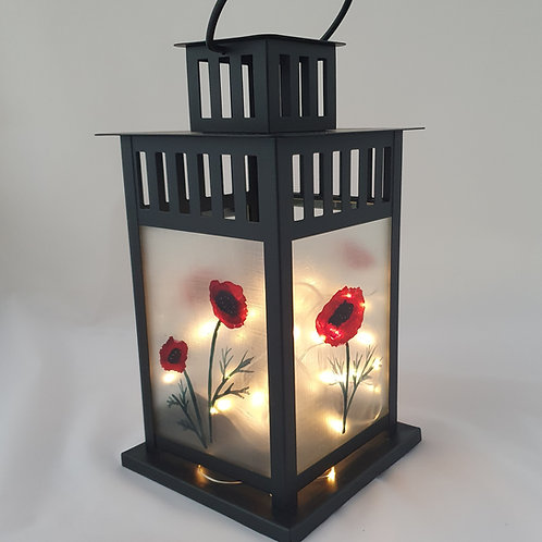Large poppy lantern