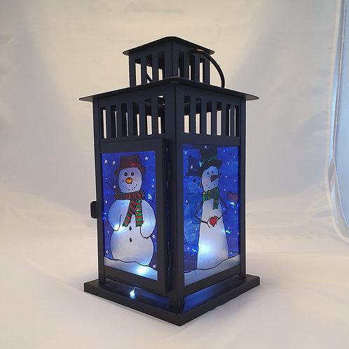 Large snowman lantern