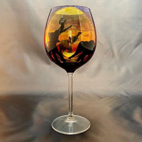 Savannah Elephant Wine glass