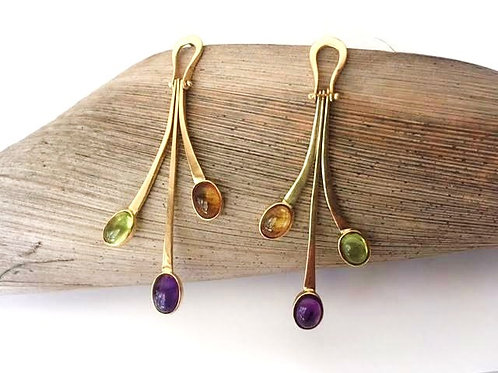 14K Dangle Movement Earrings