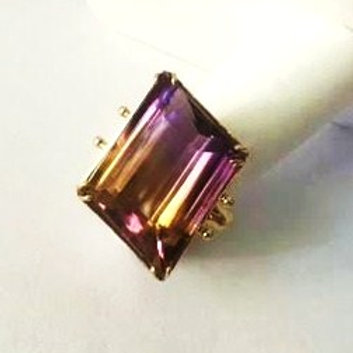 14K Gold Ametrine Ring