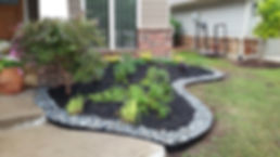 Steel Edging and River rock edging