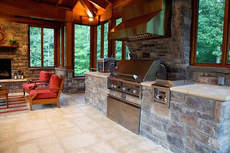 Stone Kitchen in cabana