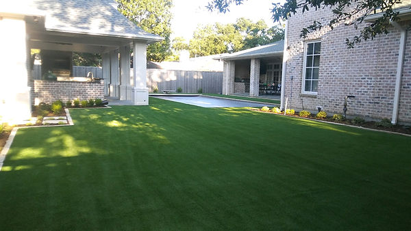 New Artificial Turf in Back yard