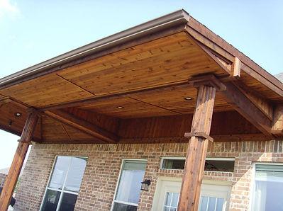 Custom Built Attached Cedar Shingled Covering