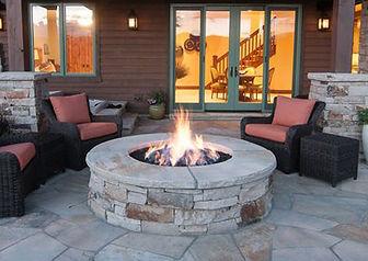 Custom Built Fire Feature