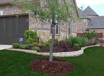 Chopped Stone Flowerbed Border