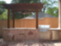 Natural Stone & Brick Outdoor Kitchen
