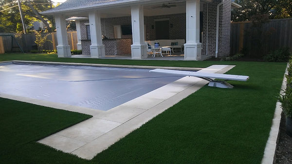Turf around pool