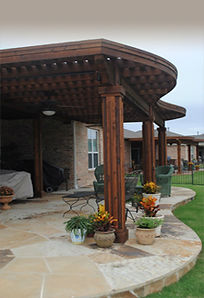 Custom Cedar Pergola & Flagstone Patio