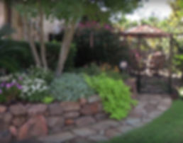 Stacked Boulder Retaining wall
