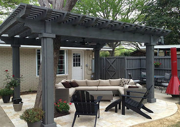 Pergola, Patio & Seating Area
