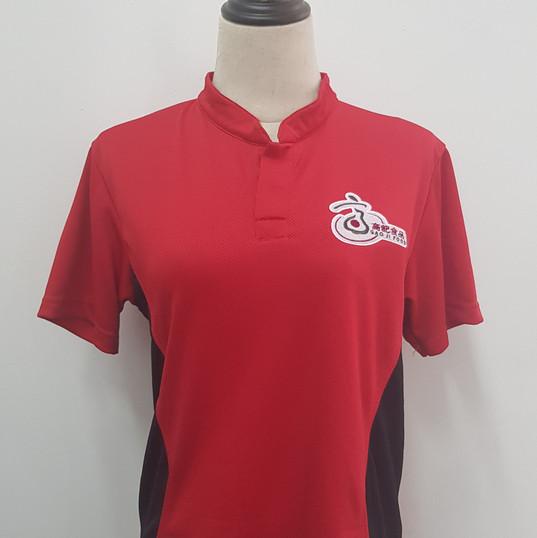 GaoJi Food Singapore Polo T-shirt with Embroidery