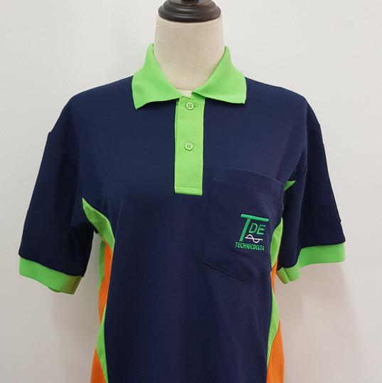 TDE Honeycomb cotton Polo T-shirt