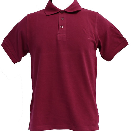 POLO 100% HONEYCOMB COTTON (MAROON)