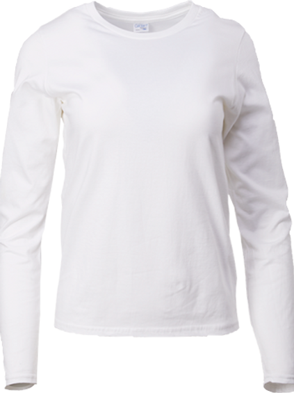ADULT L/S COTTON TEE SHIRT (Ladies)