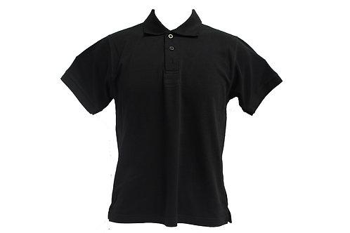 POLO 100% HONEYCOMB COTTON (BLACK)