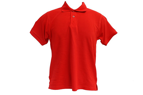 POLO 100% HONEYCOMB COTTON (RED)