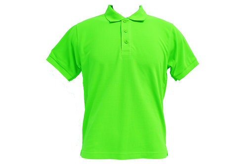 POLO 100% HONEYCOMB COTTON (GREEN)