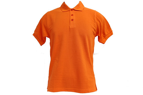 POLO 100% HONEYCOMB COTTON (ORANGE)