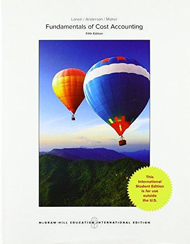 ACFI2003 Fundamentals of Cost Accounting, 5th Edition