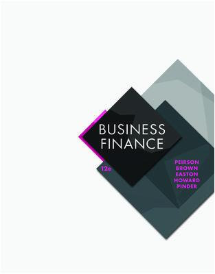 ACFI2070 Business Finance, 12th Edition