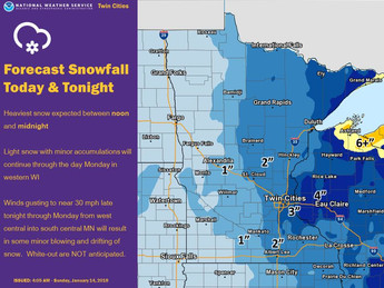 Snow & Dangerous Temps Monday and Tuesday