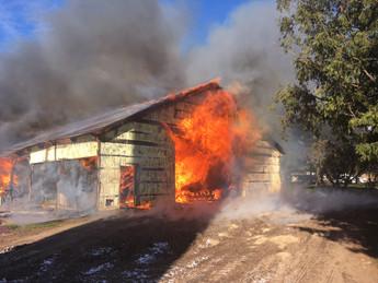 Barn Fire in Barron