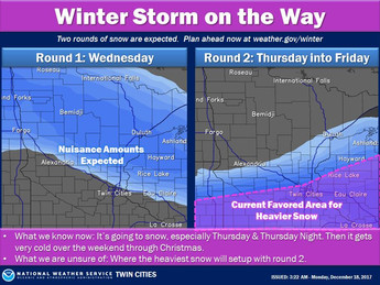 HEAVY SNOWFALL EXPECTED LATE WEEK