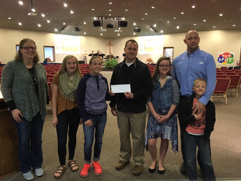 Donation from Living Water Church