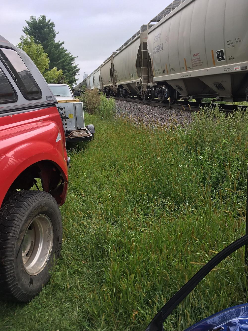 Train vs Car in Barron