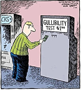 The gullibility test