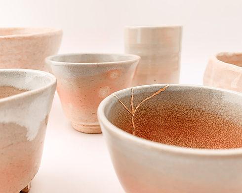Realkintsugi Kintsugi gold bowls japanese