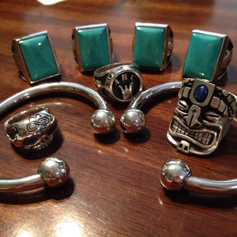 turquoise rings and custom jewelry