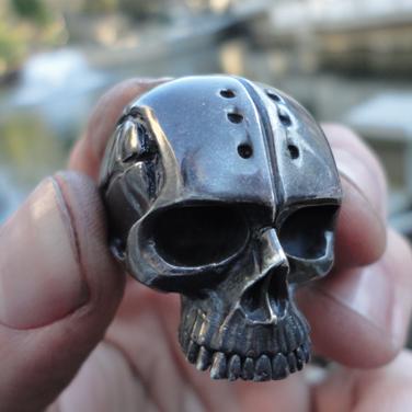 custom anarchy skull ring