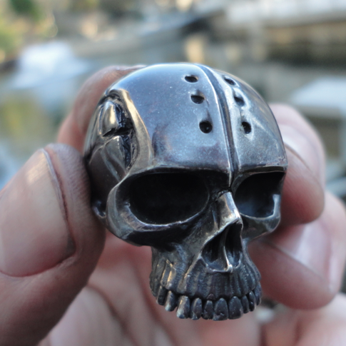custom anarchy skull ring