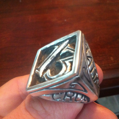 lucky 13 custom ring