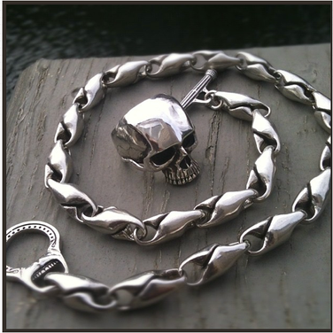 skull ring and custom necklace