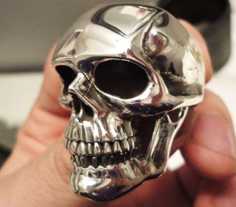 up close shot of the Jupiter Skull Ring
