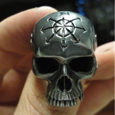 custom king skull ring