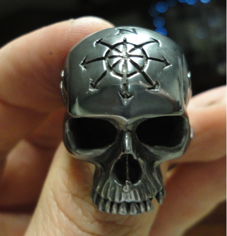 custom king skull ring