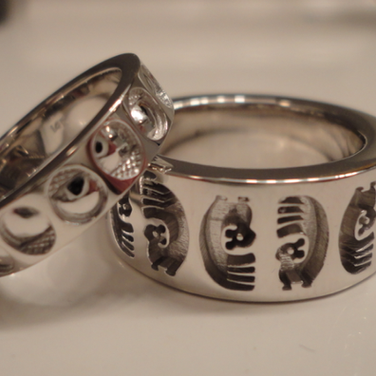 custom white gold wedding bands