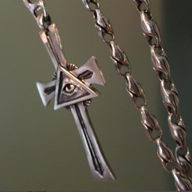 custom silver cross pendant