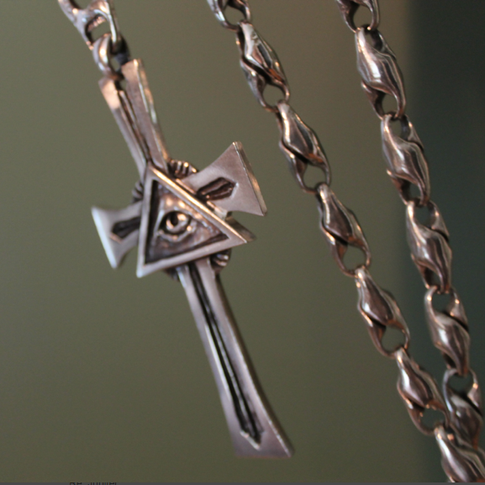 custom silver cross pendant