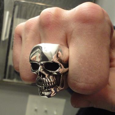 signature MT Maloney skull ring