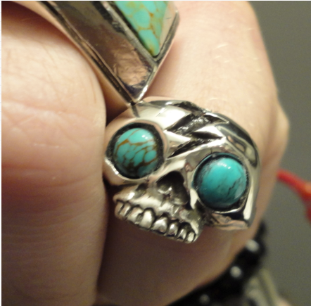 turquoise skull ring