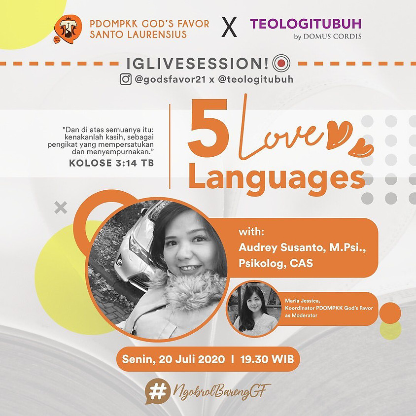 5 LOVE Languages | Teologi Tubuh X PDOMPKK God's Favor