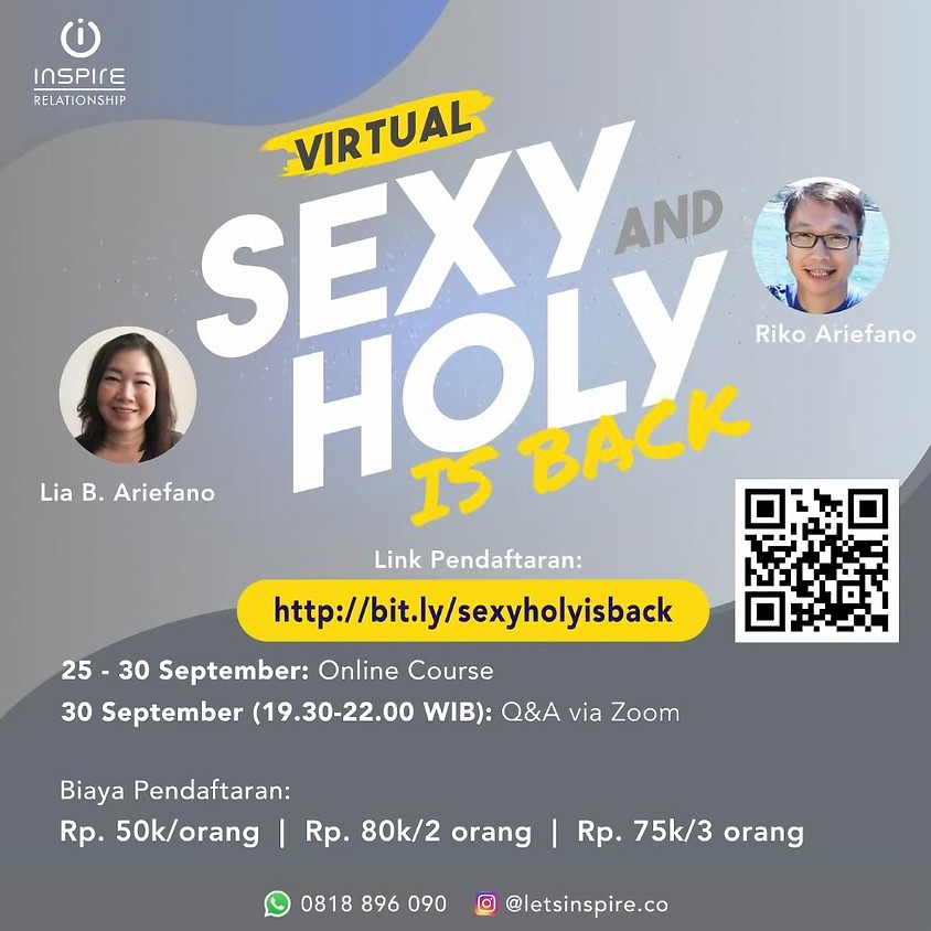 VIRTUAL SEXY AND HOLY is BACK