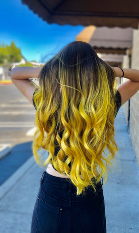 Yellow Vivid Balayage